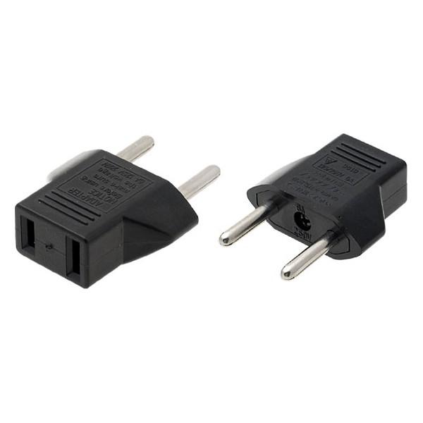 US to EU 2 prong adapter - (1 piece)