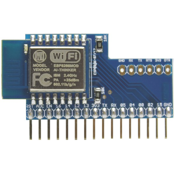 Aerial net :: ESP8266 Vertical Adapter with ESP-12D, 32 MBit